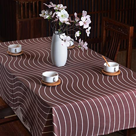 Striped Tablecloths Simple Cloth Tablecloths Round Tablecloths Coffee Table  Square Table Table Mats,Rhyme,