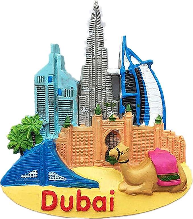 1 x Dubai Marina Skyscraper Sky Classic Fridge Magnet Kitchen #3247