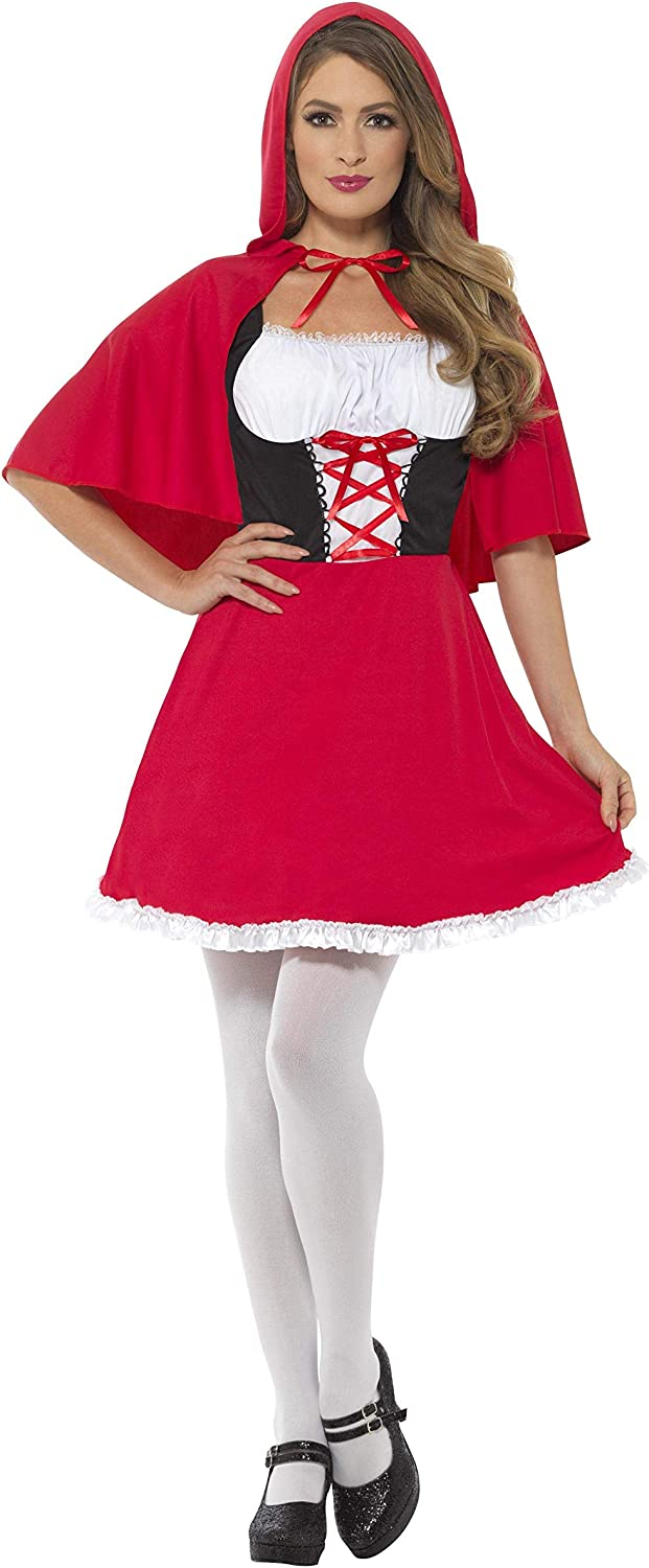 Smiffys Women's Red Riding Hood Short Costume