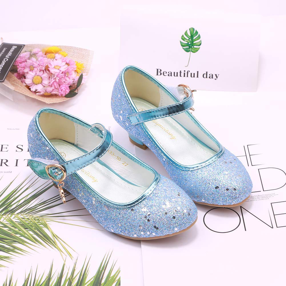 Amtidy Little Big Girl Toddler Glitter PU Leather Mary Jane Shoes Leather Princess Dress Shoes