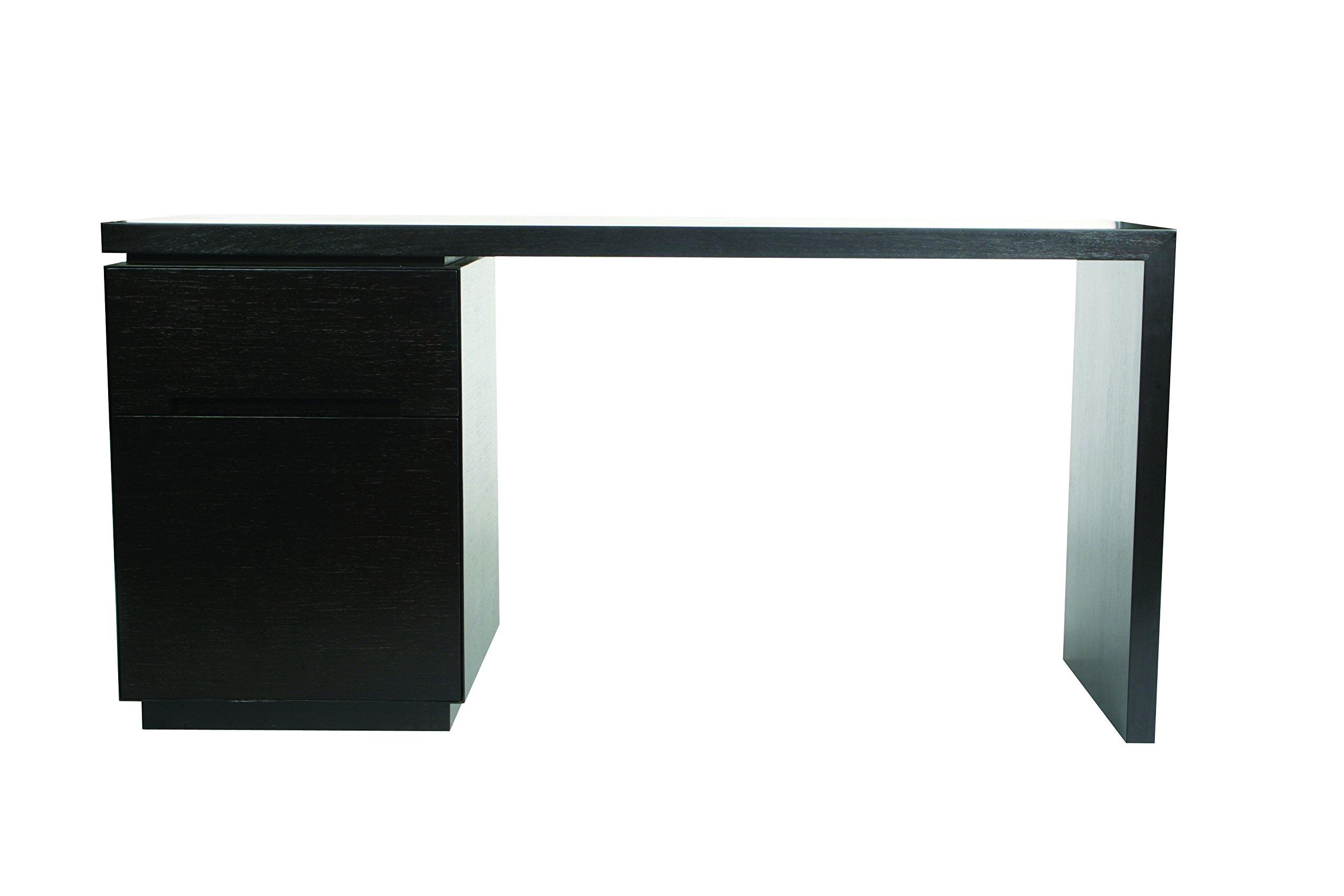 Indo Puri ''Metro'' Desk with Filing Cabinet, Geometric Design