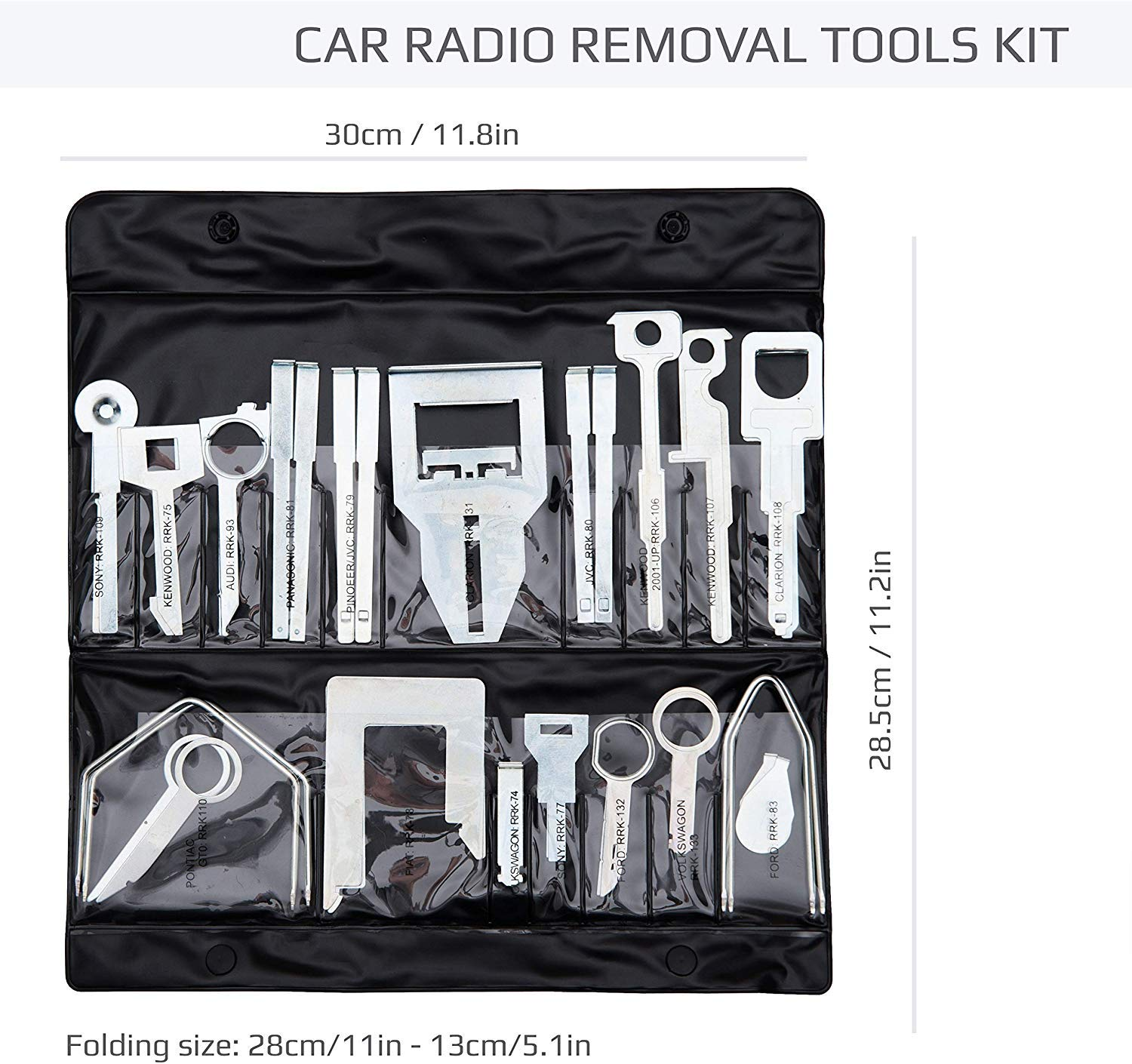 Pack of 38 Keple 38 Pcs Car Radio Release Keys Set Vehicle Panel Stereo Removal Trim Tool Kit Compatible with Audio GPS CD Player Radio Head Unit Navigation Installation Disassembly Tools