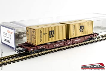 Roco 76740 FS MSC Container Wagon V: Amazon co uk: Toys & Games
