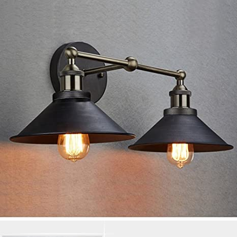 ef5373b226bea CLAXY Ecopower Industrial Edison Simplicity 2 Light Wall Mount Light  Sconces Aged Steel Finished
