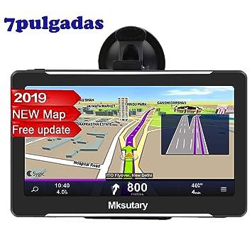 Mksutary GPS De Coche, Navigation Pantalla, LCD Capacitiva Táctil De 7pulgadas, RAM 256Mb