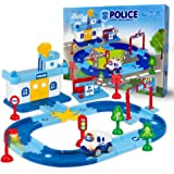 Edenseelake Race Car Track for Kids Boy Toy Police Theme Cars Toys Playset for 3 4 5 6 7 8 Year and Up Old Boys Girls…