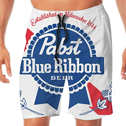 43d04f4299 Amazon.com: HQFMEVVU Pabst Blue Ribbon Funny Swim Trunks Quick Dry Summer  Surf Beach Board Shorts Casual Athletic Swim Trunks with Pockets: Sports &  ...
