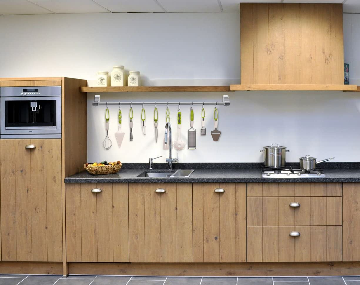 Tomorrows Kitchen 4662660 Couteau//brosse /à l/égume en Acier Inoxydable Blanc//Vert 25 x 10 x 10 cm