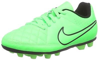 brand new bb1f7 16cbb Nike Junior Tiempo Rio II FG-R Soccer Cleats (Green Strike Black)