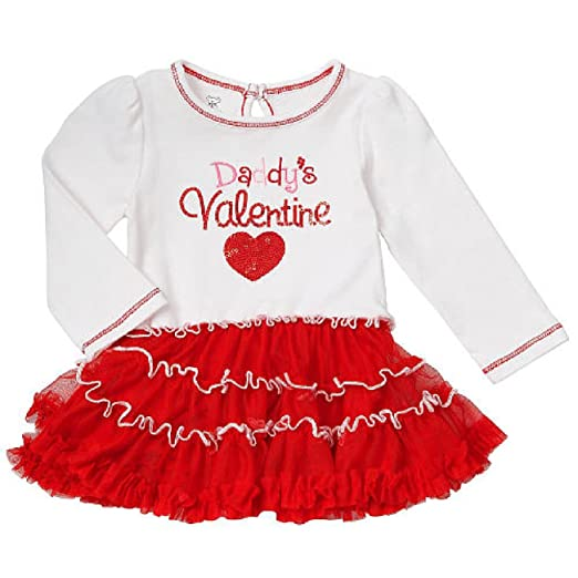Amazon.com: Embroidered Sequin Daddyu0027s Valentine Tutu Baby Girlsu0027 Bodysuit  Dress Up Outfit: Clothing