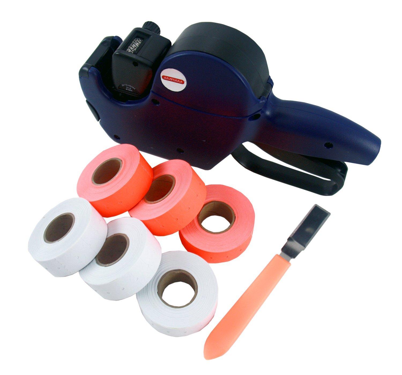 mram 1 Line/ 6 Characters Price Marker Starter Kit, Includes 6,000 Labels, 1 Pre-Loaded Ink Roller, 1 Label Peeler Tool.