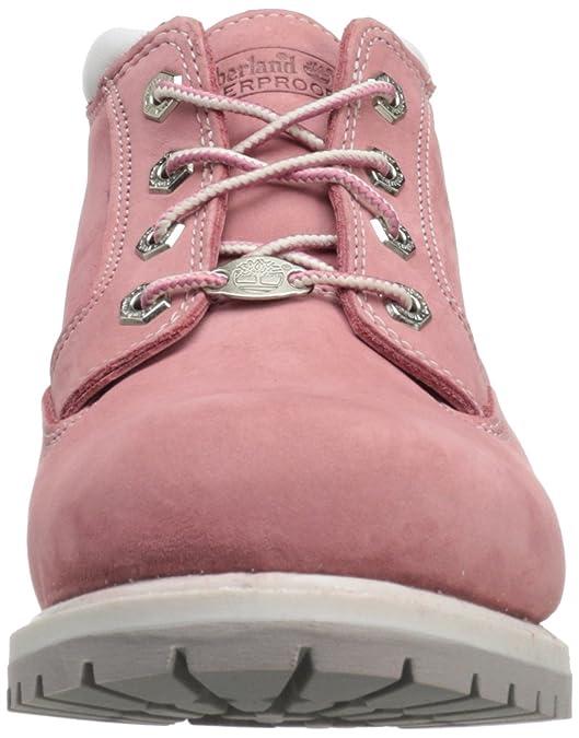 Timberland Nellie Classic Chukka, Botas para Mujer, Color Rosa, Talla 37.5 EU