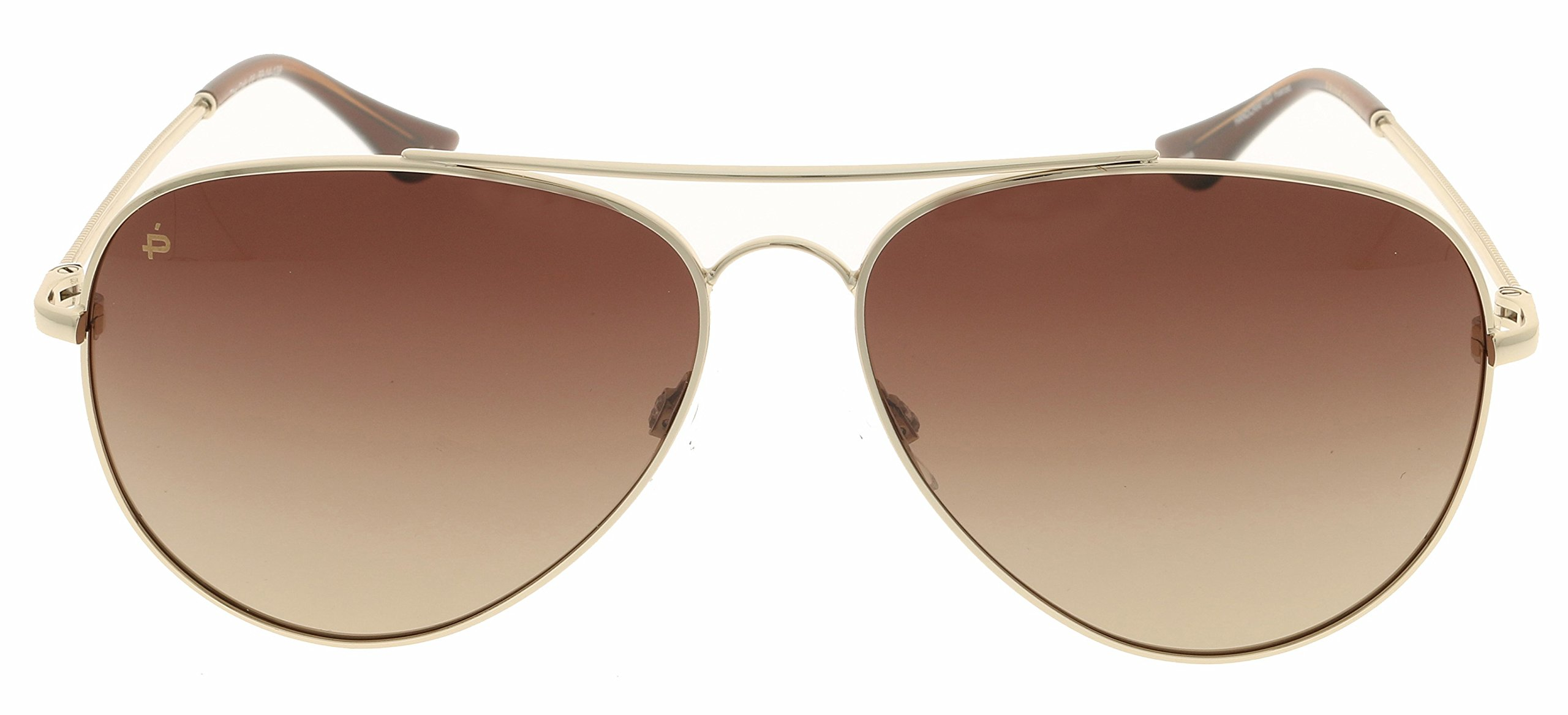 PRIVÉ REVAUX Places We Love Collection''The Cali'' Polarized Handcrafted Designer Aviator Sunglasses (Gold/Brown Gradient) by PRIVÉ REVAUX