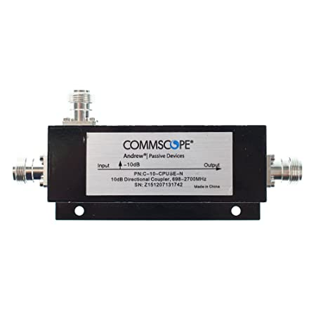 Commscope C-10-CPUSE-N RF Air Directional Coupler, 10dB, 555-2700Mhz