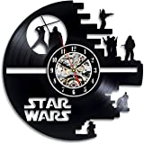Handmade Solutions Star Wars Characters Vinyl Record Wall Clock- 12 Inches Vinyl Clock with Silent Quartz Mechanism, 1 AA Battery Required (not Included)
