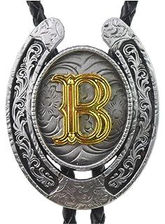 Men Vintage Initial Letters Rodeo Zinc Alloy Western Style Cowboy Belt Buckle Z2