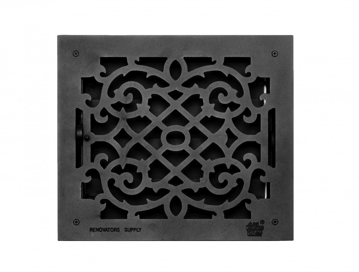 Floor Heat Register Louver Vent Victorian Cast 12 X 14 Duct | Renovator's Supply