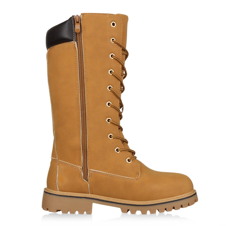 5b7e338b3c2db5 SCARPE VITA Damen Stiefel Worker Boots Warm Gefüttert  Amazon.de  Schuhe    Handtaschen