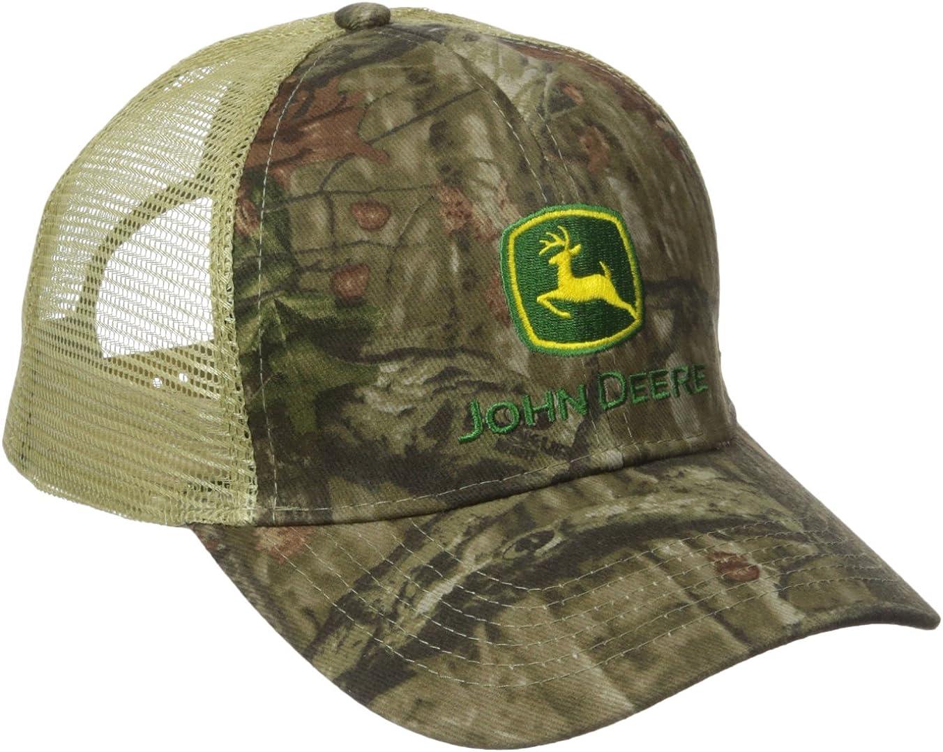 John Deere Mens Mossy Oak Mesh Back Cap