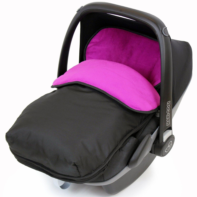 Universal Car Seat Footmuff To Fit Maxi Cosi Pebble - Plum (Black/Plum) iSafe iSBgtCrsFmPlum