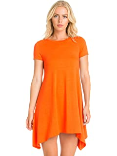 741f519267bf6 Milumia Women's Casual V Neck Scallop Trim Sleeveless Tunic Short ...