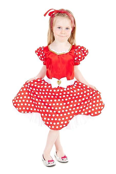 Minnie - Disfraz niña, talla 5-7 años: Amazon.es: Juguetes y juegos
