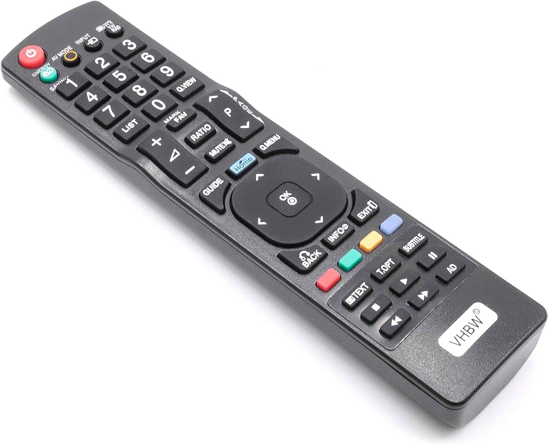 vhbw Mando a Distancia para LG 32LK430, 32LK450, 32LK455, 32LK530, 32LV2500, 32LV3400, 37LD450, 37LE5300, 37LH5010 Repuesto para TV, Television: Amazon.es: Electrónica