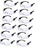 24 Pieces Protective Polycarbonate Eyewear Safety Glasses Impact Resistant Lens, One Size for Eye Protection