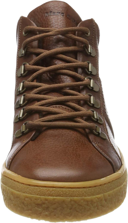 Marc O'Polo Heren 90825453502103 hoge sneakers Braun (Cognac 720)