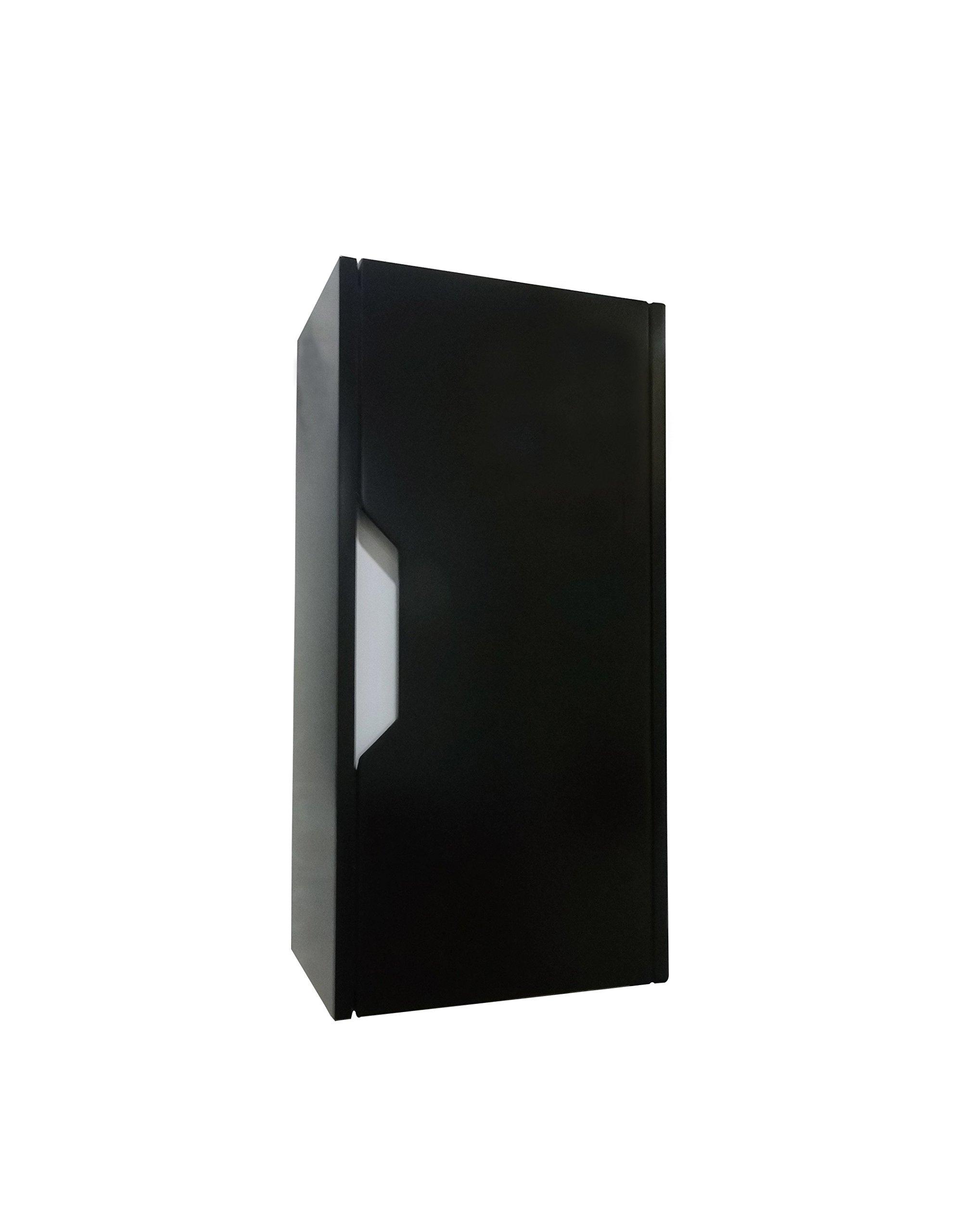 Dawn REMC110723-06 Wall Mounted MDF Side Cabinet with Shelf Inside, Matt Black Finish