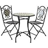 43bded831d Airwave Sevilla Mosaic Bistro Set 2 Seat Table and Chairs for Patio/Garden/ Outdoor