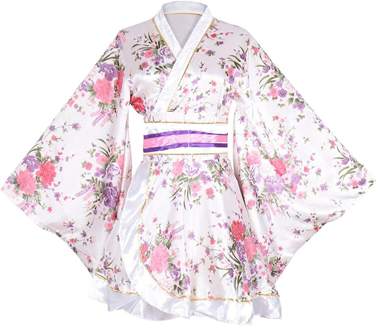 Amazon.com: Kimono de mujer para adultos, japonés, con ...