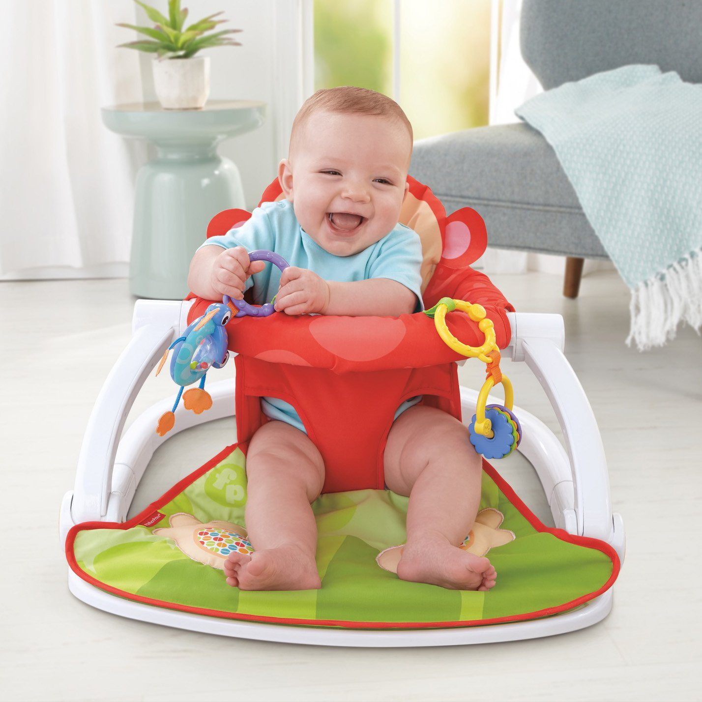 Fisher Price Deluxe Sit Me Up Floor Seat Infant Baby Child