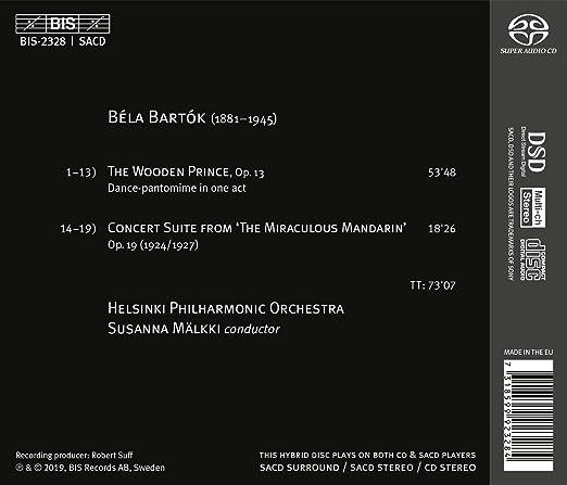 Helsinki Philharmonic Orchestra Bela Bartok Susanna Malkki