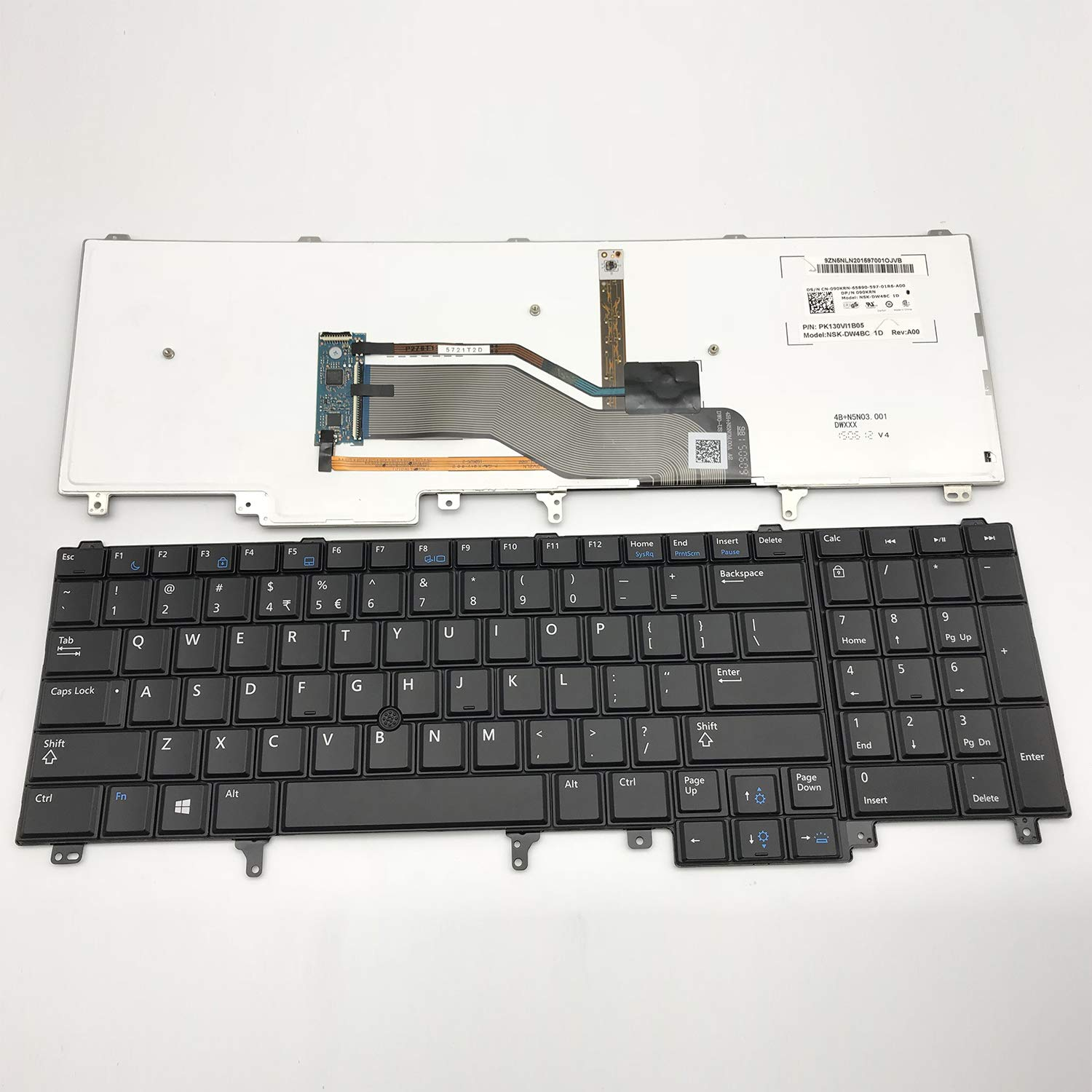 US Layout Notebook Keyboard for Dell Latitude E6520 E6530 E6540 E5520 E5530 series Black Backlight with pointing Small Enter Key