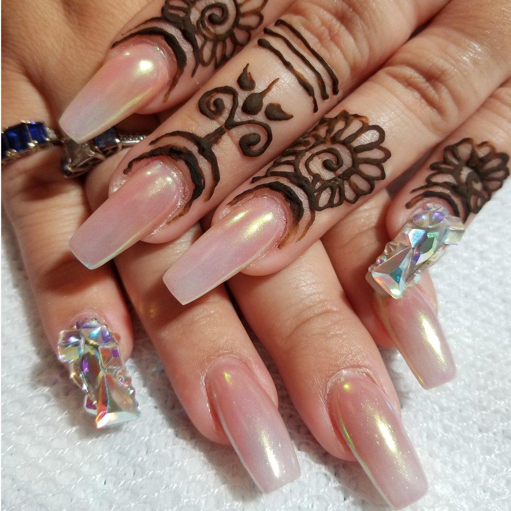 PrettyDiva 7 Jar Pearl Powder Mirror Effect Chrome Nail Powder Metallic Nail Manicure Pigment by Pretty Diva (Image #9)