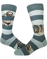 ModSocks Men's Sloth Stripe Crew Socks