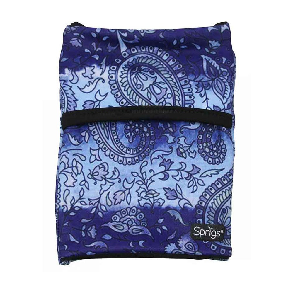 Sprigs Banjees 2 Pocket Wrist Wallet - Purple Paisley, One Size Fits Most
