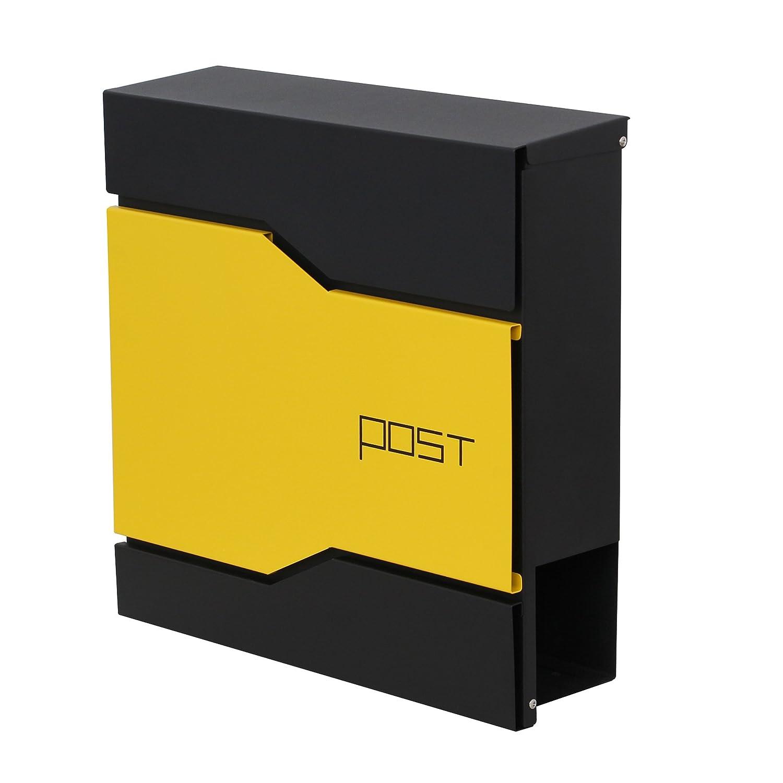 LZQ moderne en acier inoxydable brossé Boîte aux lettres Boîte aux lettres design avec compartiment pour journaux Anthracite, boîte à lettres, boîte aux lettres avec porte-journaux Boîte aux lettres murale