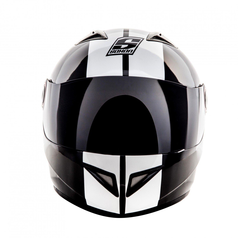 Sonnenvisier /· inkl 61-62cm SOXON ST-666 Shiny Night /· Integral-Helm Motorrad-Helm Helmet Roller-Helm Sport Scooter-Helm Cruiser Urban Sturz-Helm /· ECE zertifiziert /· inkl Stofftragetasche /· Schwarz /· XL