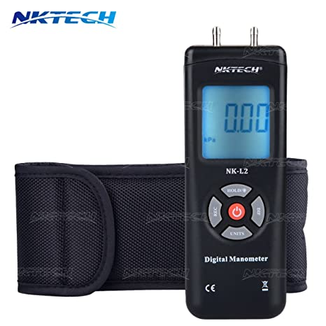 NKTECH 1890 Digital Manometer Differential Air Gauges