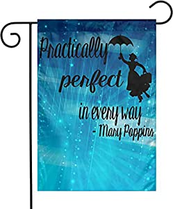 "antfeagor Garden Flag 12""X18"" Inches Polyester Seasonal Flags Eudra Middleton Mary Poppins for Outdoor Home Yard Summer Decor Garden Flag Banner Yard Flag"