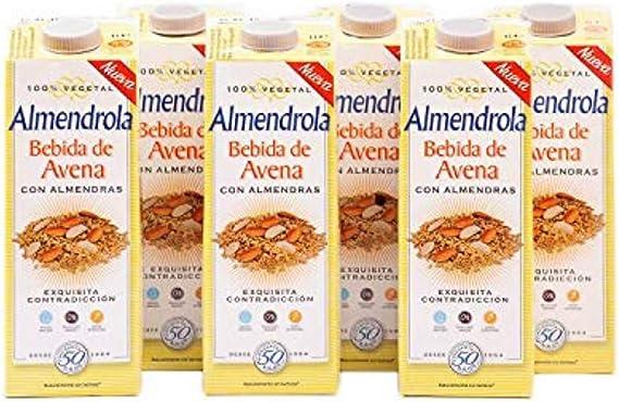 Almendrola - Bebida Vegetal de Avena con Almendras - Caja de 6 x ...