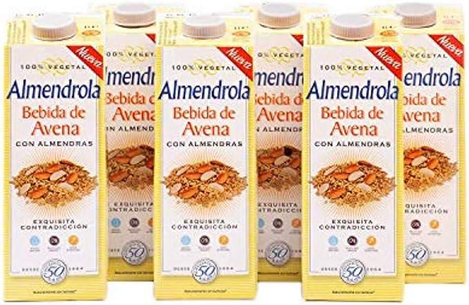 Almendrola - Bebida Vegetal de Avena con Almendras - Caja de 6 x 1L: Amazon.es: Alimentación y bebidas