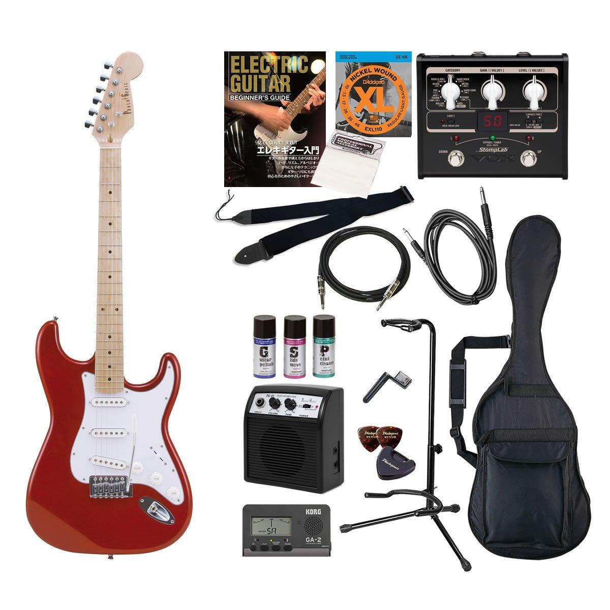 PhotoGenic エレキギター Amazonオリジナル16点 エフェクターセット ストラトキャスタータイプ ST-180M/MRD メタリックレッド  メタリックレッド/M B00CSHNAZ0
