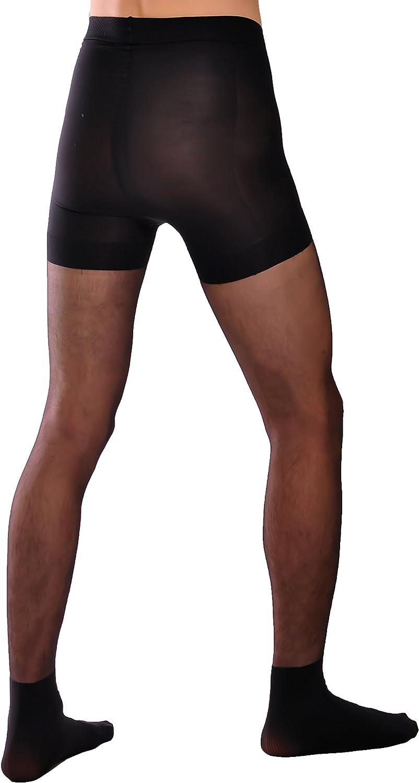 natural Smart mens sheer pantyhose Knittex black