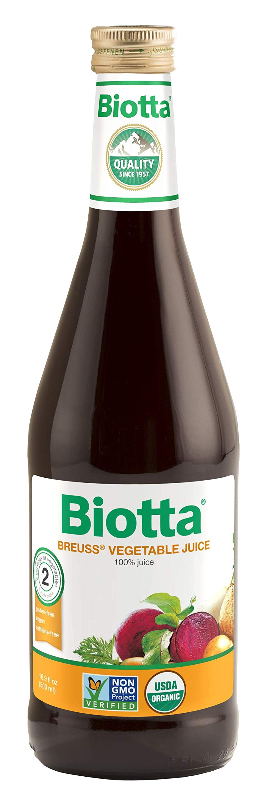 Biotta Organic Breuss Vegetable Juice, 6 bottles by Biotta