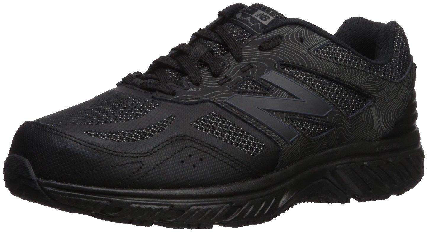 New Balance Men's 510v4 Cushioning Trail Running Shoe, Black, 14 D US