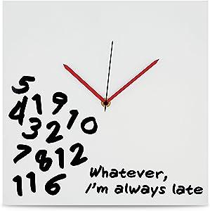 "Kovot ""I'm Always Late Wall Clock - 12"" x 12"""