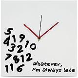 "KOVOT ""I'm Always Late"" Wall Clock - 12"" x 12"""
